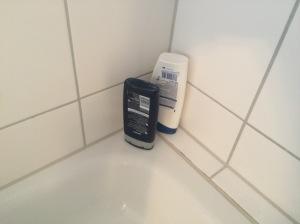 Duschen mit Plastik